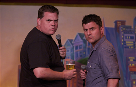 Steve Lemme and Kevin Heffernan From Super Troopers and Beerfest